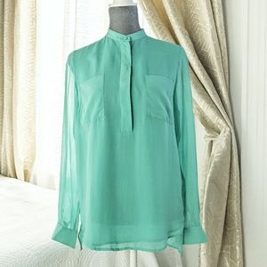 3.1 Phillip Lim turquoise 100% silk blouse